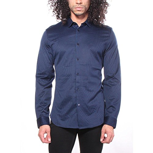 Streifen Button-front Shirt (Calvin Klein Dashed Strip Hemden Button-Front XL Herren)