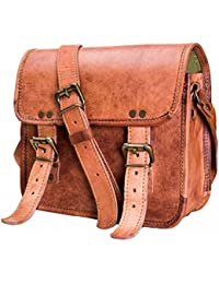 Messenger Leather Bag For Men Women Boys Girls Handmade Shoulder Satchel Distressed Bag For School College, Camping...
