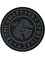 Subdued Rare Norse Viking Raven Runes Odin God of War ACU Morale PVC Gomme 3D Fastener Écusson Patch