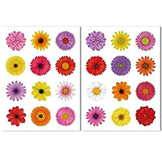 24 Beautiful Flower Window Clings by Articlings - All Non-adhesive Stickers Quickly Decorate and Brighten your Windows
