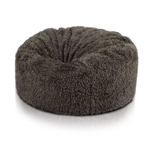 Ecopuf Mini Island Groß Sitzsack Sessel Bezug, aus Künstliches Fell, Ideal für Jugendliche und...