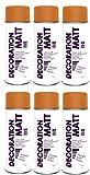 6er Sparpack DC Lackspray matt 400ml nach RAL freie Farbauswahl (6 Dosen in orange MATT RAL 2004)