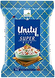 Unity Super | Authentic Long Grain Basmati Rice, 5 Kg Pack | from The House of India Gate