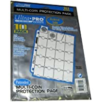 Ultra Pro 20-Pocket Platinum Page for Coins and Tokens 10 ct