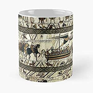 Medieval Viking Illumination Boats Horses Celtic Battle Fighting Of - Bestes 11 Unze-Keramik-Kaffeetasse Geschenk