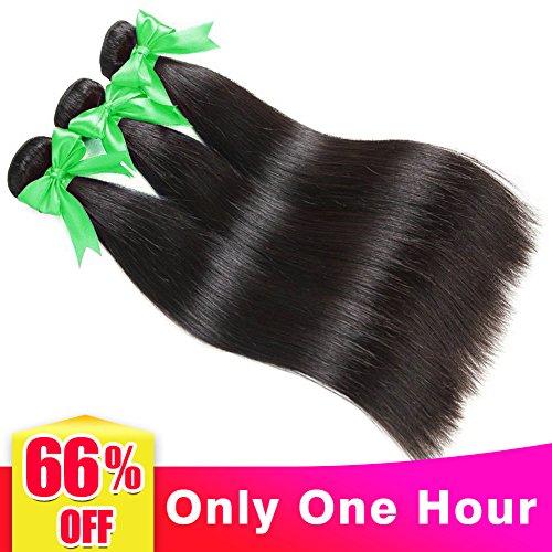 Brasiliano capelli lisci 3 fasci extension capelli veri umani tessitura brasiliano lisci matassa 14 16 18 pollici 8a capelli vero brasiliano naturali