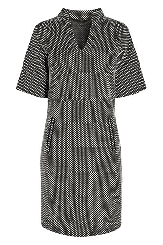 next Femme Regular Fit Robe En Jacquard À Pois Noir