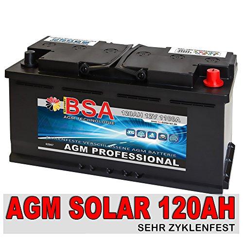 Solarbatterie 120Ah 12V Versorgungsbatterie AGM GEL Wohnmobil Batterie 100AH