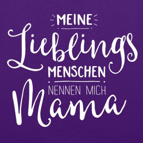 Spreadshirt Meine Lieblingsmenschen Nennen Mich Mama Stoffbeutel Lila