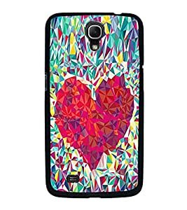 Fuson Premium 2D Back Case Cover Designed Heart With Pink Background Degined For Samsung Galaxy Mega 6.3 i9200::Samsung Galaxy Mega 6.3 i91200