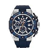 Quantum PWG413.399 - Reloj (Reloj de pulsera, Masculino, Acero inoxidable, Negro, Azul, Acero inoxidable, Silicona, Azul)