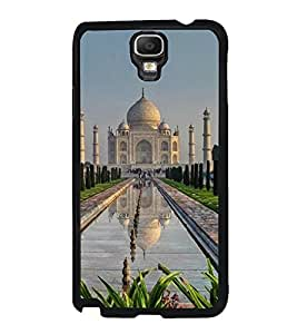 Fuson Premium 2D Back Case Cover Taj mahal With yellow Background Degined For Samsung Galaxy Note 3 Neo N7505