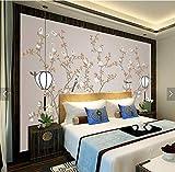 Yirenfeng Nouveau style chinois fleurs peintes à la main et oiseaux fond mur art stylos fleurs et oiseaux TV fond mur