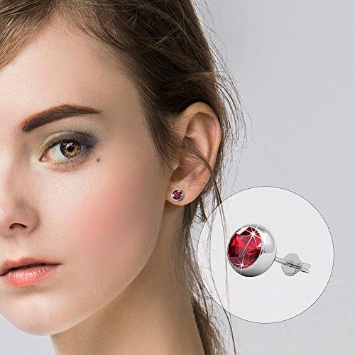 R-timer pour femme Cristal Perle/pendantes/Boucles d'oreille à tige Cristaux Swarovski Elements Ensemble de bijoux de 7paires Stud Earrings