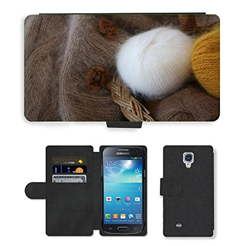 Just Cover Hot Stil Handy Karte Slot Hülle/Case/Brieftasche aus PU-Leder/m00138197 Angora Wolle flauschig Wollknäuel Soft//Samsung Galaxy S4 Mini I9190 - Angora Mini