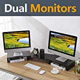 Best Dual Monitor Stands - RFIVER Universal Wood Monitor Stand PC Screen Riser Review