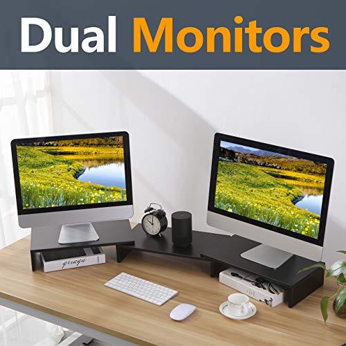 RFIVER Podest 3er Set Monitorständer Notebookständer Laptopständer Computertisch mehrere Kombinationen DIY Schwarz CM1009 -