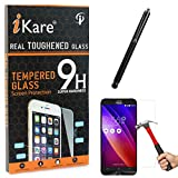 iKare Tempered Glass for Asus Zenfone 2 Laser ZE550KL, Tempered Screen Protector for Asus Zenfone 2 Laser ZE550KL + Touch Screen Stylus