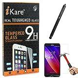 iKare Tempered Glass for Asus Zenfone 2 Laser ZE550KL, Tempered Screen Protector for Asus Zenfone 2 Laser ZE550KL + Touch Screen Stylus