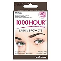 1000 Hour Eyelash & Brow Dye /Tint Kit Permanent Mascara (Dark Brown) by 1000Hour
