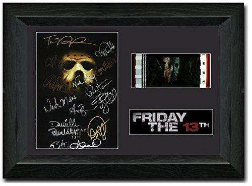Freitag der 13.: Day of Death 35-mm-Film-Negativ, gerahmt, in englischer Sprache, signiert (Der Film Halloween Im Tv)