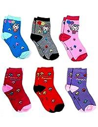 Krystle Prime Unisex Cotton Printed Kids Anti-Skid Socks (Pack Of 6)-B079KD8BB5