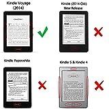 Kindle Voyage Hülle Case - Fintie Ultra Slim Lightweight Schutzhülle Tasche Cover mit Auto Schlaf / Wach Funktion Standfunktion nur geeignet für Kindle Voyage, Schwarz Bild 2
