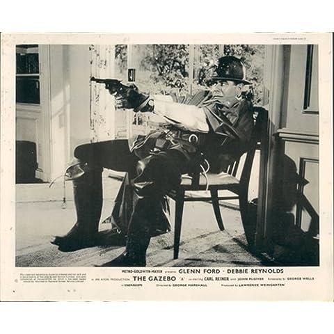 Il gazebo Glenn Ford Firing Gun Lobby Card originale