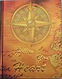 """Notizbuch / Tagebuch mit Motto """"Follow Your Heart"""", braun-gold metallic, mit gold geprägter Schrift, blanko, Hardcover, Limitierte Auflage"""