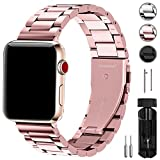 Fullmosa Kompatibel Apple Watch Armband 42mm(44mm Series 4), Rostfreier Edelstahl Watch Ersatzband für iWatch/Apple Watch Series 4/3/2/1, 42mm(44mm) Roségold