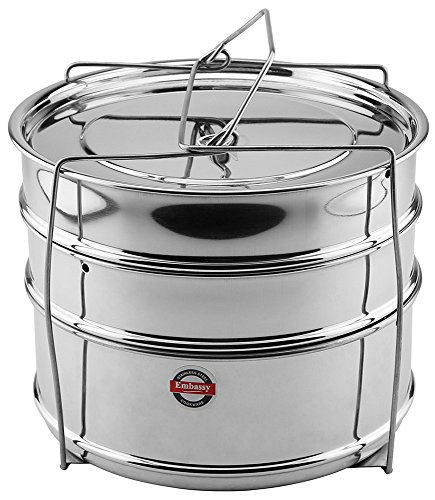 Embassy Cooker Separator Set Suitable for 6.5 Ltrs Hawkins & 5 Ltrs Prestige Popular Pressure Cookers  available at amazon for Rs.649