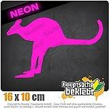 Känguru Kangaroo Beuteltier 16 x 10 cm IN 15 FARBEN - Neon + Chrom! Sticker Aufkleber