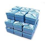 RUBY- 24 Cajas de Regalo Joyería 5cm x 5cm, para presentación de joyas, Envío urgente gratis (Azul Pastel)