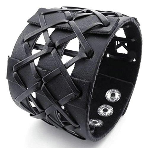 Daesar Gold Plated Armband Herren Curb Armbänder Schwarz Armband für Herren Länge:8 (Kostüme 18 Android)