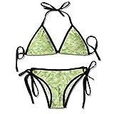 Bikini Women's 2 Pieces,Digital Pyramids Soft Icons Sexy Bikini 2 Pieces
