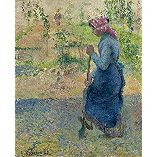 Berkin Arts Camille Pissarro Giclee Canvas Print Paintings Poster Reproduction(Peasant Woman Digging) #XFB