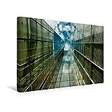Premium Textil-Leinwand 45 cm x 30 cm quer, Wolkenkratzer | Wandbild, Bild auf Keilrahmen, Fertigbild auf echter Leinwand, Leinwanddruck: Spiegelnde Hochhauses mit Himmelsblick (CALVENDO Orte)