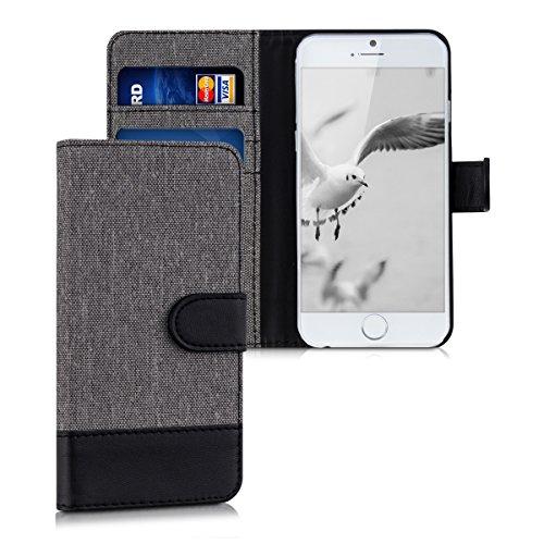 kwmobile Apple iPhone 6 / 6S Hülle - Kunstleder Wallet Case für Apple iPhone 6 / 6S mit Kartenfächern und Stand