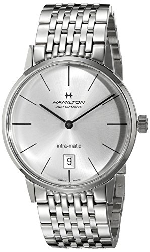 HAMILTON MEN'S INTRA-MATIC 38MM METAL BRACELET AUTOMATIC WATCH H38455151