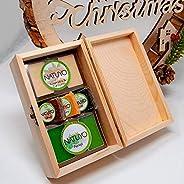 Cajita de Regalo bonita en madera para Navidad Papá Noel 2019 de Mascarillas NATUYO