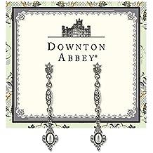 1928 Jewelry Company - Le Downton Abbey Collection Bijoux En Perles Et Cristal Boucles D'Oreilles En Filigrane Argenté Pw- 17590