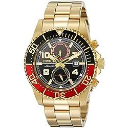 Invicta 18518 - Reloj de cuarzo para hombres, color dorado