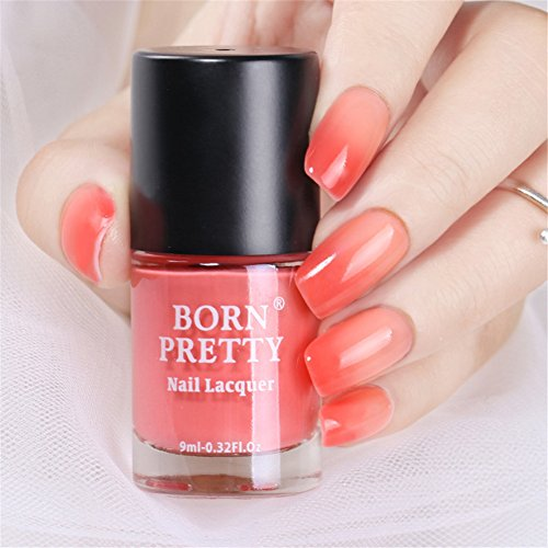 Thermal Polish Peel Off Sunlight Sensitive Color Changing Lacquer Varnish DIY Manicure #6 (Halloween Light-shows 2017)