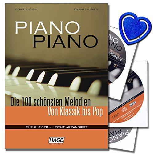 Piano Piano 1 mit 3 CDs - Die 100 schönsten Melodien von Klassik bis Pop - Für Klavier - leicht arrangiert - Das Spielbuch zu jeder Klavierschule