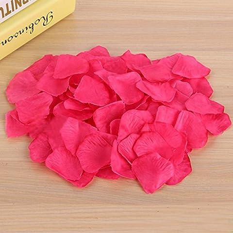 Asdomo Lot de 1000pétales de rose en soie pour la décoration de mariage