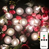 Topstone flammenlose Kerze ferngesteuerte LED Teelicht, warme weiße flackernde Birne, batteriebetriebene LED Votivkerze, realistische und helle Faux Teelichter, für Saison- & Festival-Feier, 12er Pack