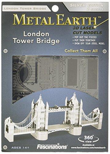 Fascinations Metal Earth MMS022 - 502566, London Tower Bridge, Konstruktionsspielzeug, 2 Metallplatinen, ab 14 Jahren