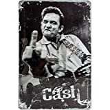 Die besten Von Johnny Cashes - Nostalgic-Art 22210 Hollywood Johnny Cash Finger Blechschild, 20 Bewertungen