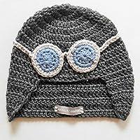 Cappellino da aviatore, cappellino da pilota, berretto da pilota, berretto da aviatore, cappello con occhiali. Azzurro. Regali per bambini