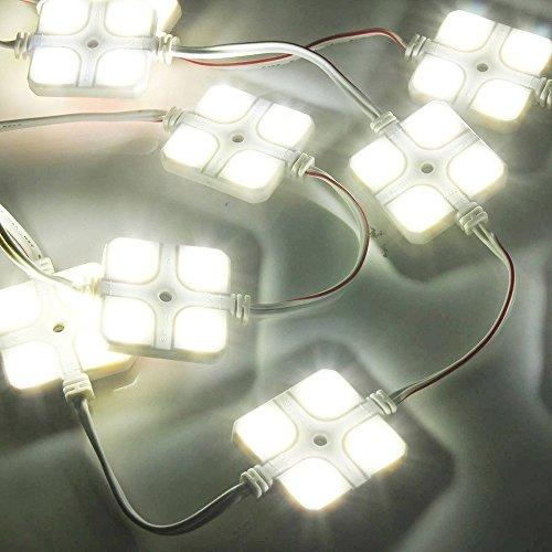 KKmoon 10x4 LED Auto Innenbeleuchtung Lampe Interior Licht Leseleuchte LED Panel Kits Wasserdicht Hellweiß 12V für RV Van Boot Trailer